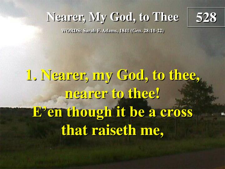 nearer my god to thee verse 1 n.