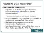 proposed vgs task force
