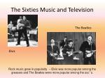 the sixties music and television