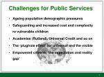 challenges for public services