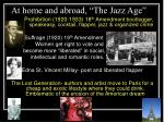 at home and abroad the jazz age