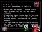 the harlem renaissance voices of the african american experience