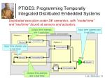 ptides programming temporally integrated distributed embedded systems