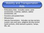 mobility and transportation aids1