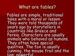 what are fables