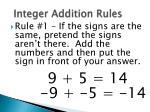integer addition rules