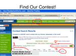 find our contest