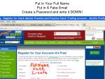 put in your full name put in a fake email create a password and write it down