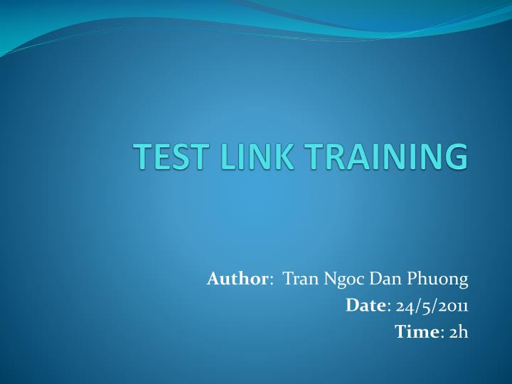 test link training n.
