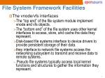 file system framework facilities