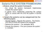 solaris file system framework