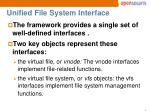 unified file system interface