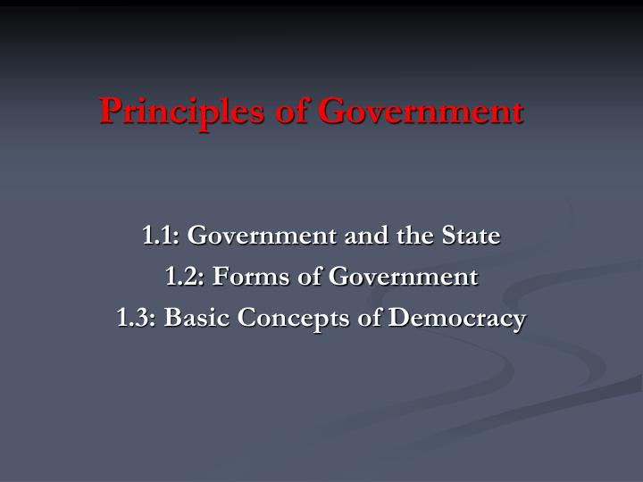 principles of government n.