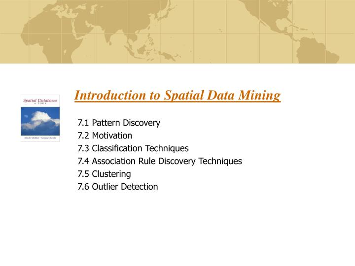 introduction to spatial data mining n.