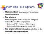 math has four options