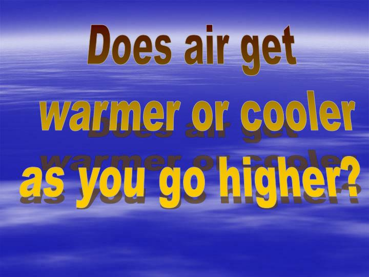 Does air get