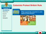 colonists protest british rule