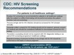 cdc hiv screening recommendations