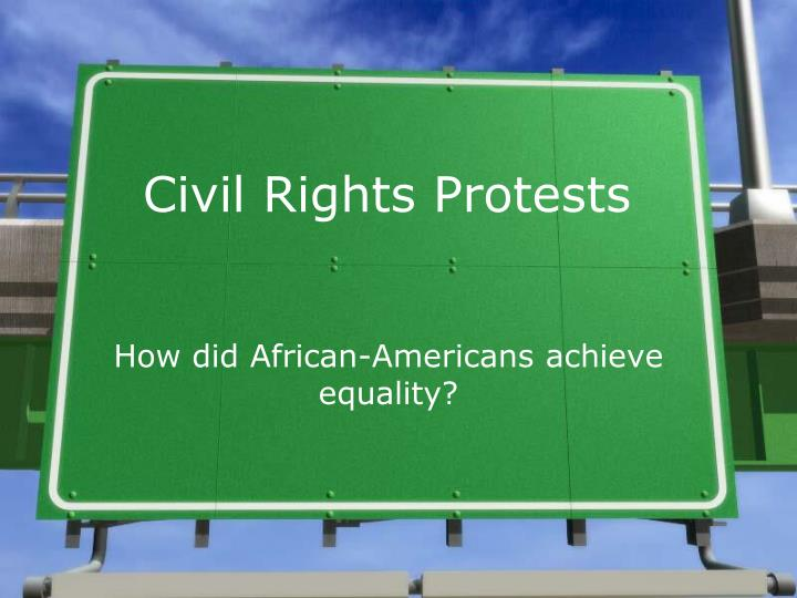 civil rights protests n.