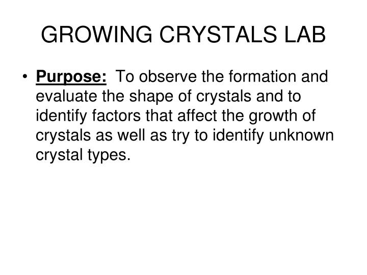 growing crystals lab n.
