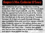 suspect 1 mrs catherine o leary