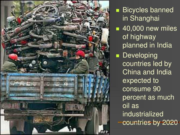 Bicycles banned in Shanghai