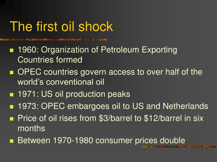 The first oil shock