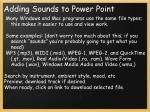 adding sounds to power point