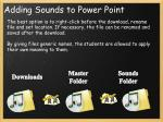 adding sounds to power point1