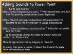 adding sounds to power point2