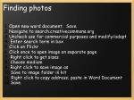 finding photos