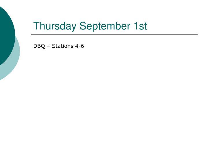 Thursday September 1st