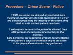 procedure crime scene police