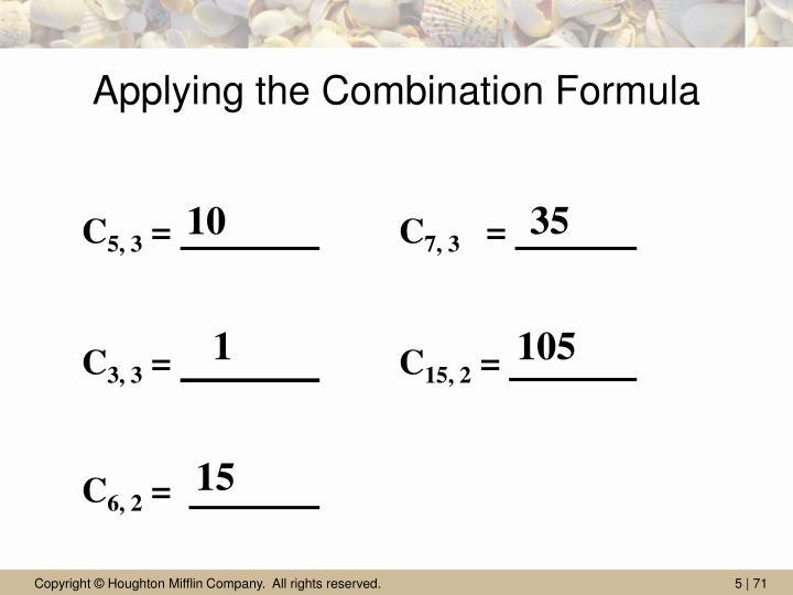 Applying the Combination Formula