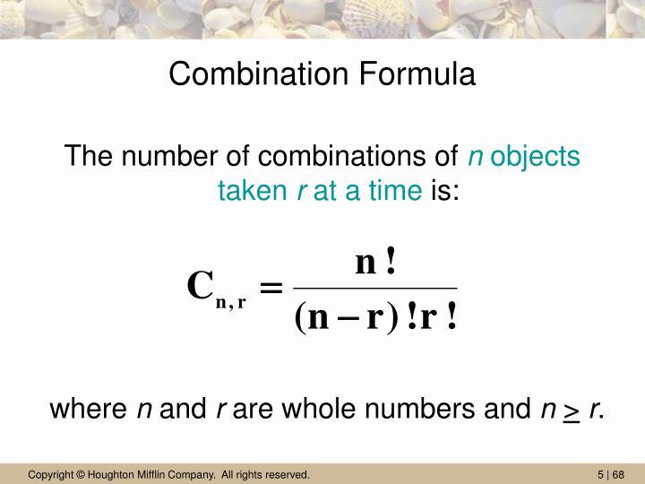 Combination Formula