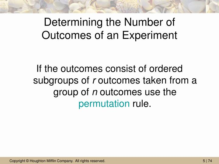 Determining the Number of