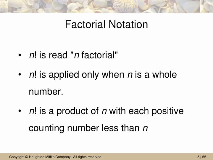 Factorial Notation