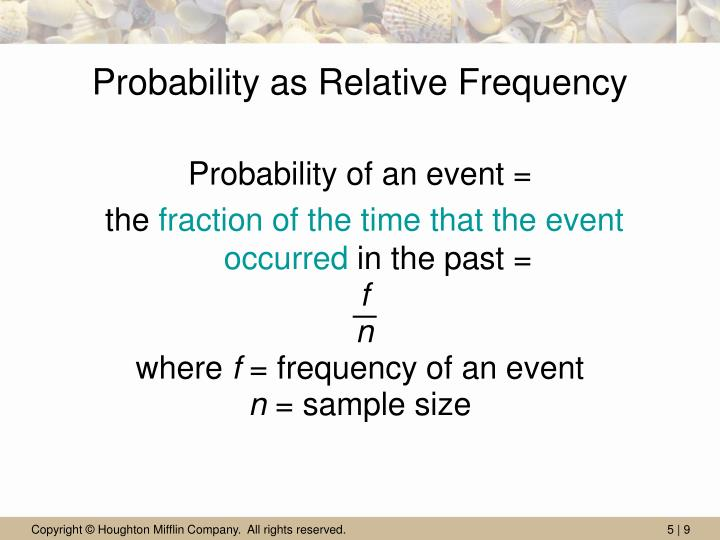 Probability as Relative Frequency