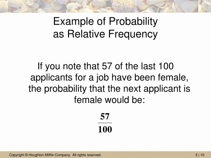 Example of Probability