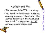 author and me