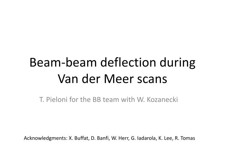 beam beam deflection during van der meer scans n.