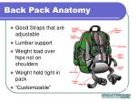 back pack anatomy