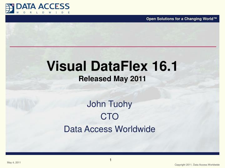 visual dataflex 16 1 released may 2011 n.