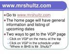 www mrshultz com