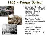 1968 prague spring