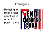 embargoes