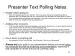 presenter text polling notes
