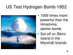 us test hydrogen bomb 1952