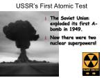 ussr s first atomic test