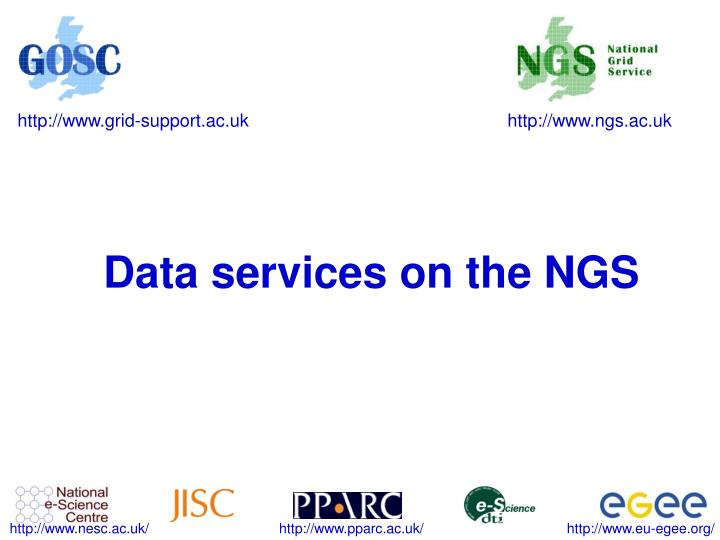 data services on the ngs n.